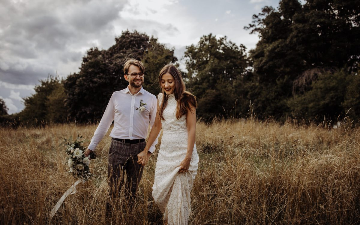 Summer meadow elopement