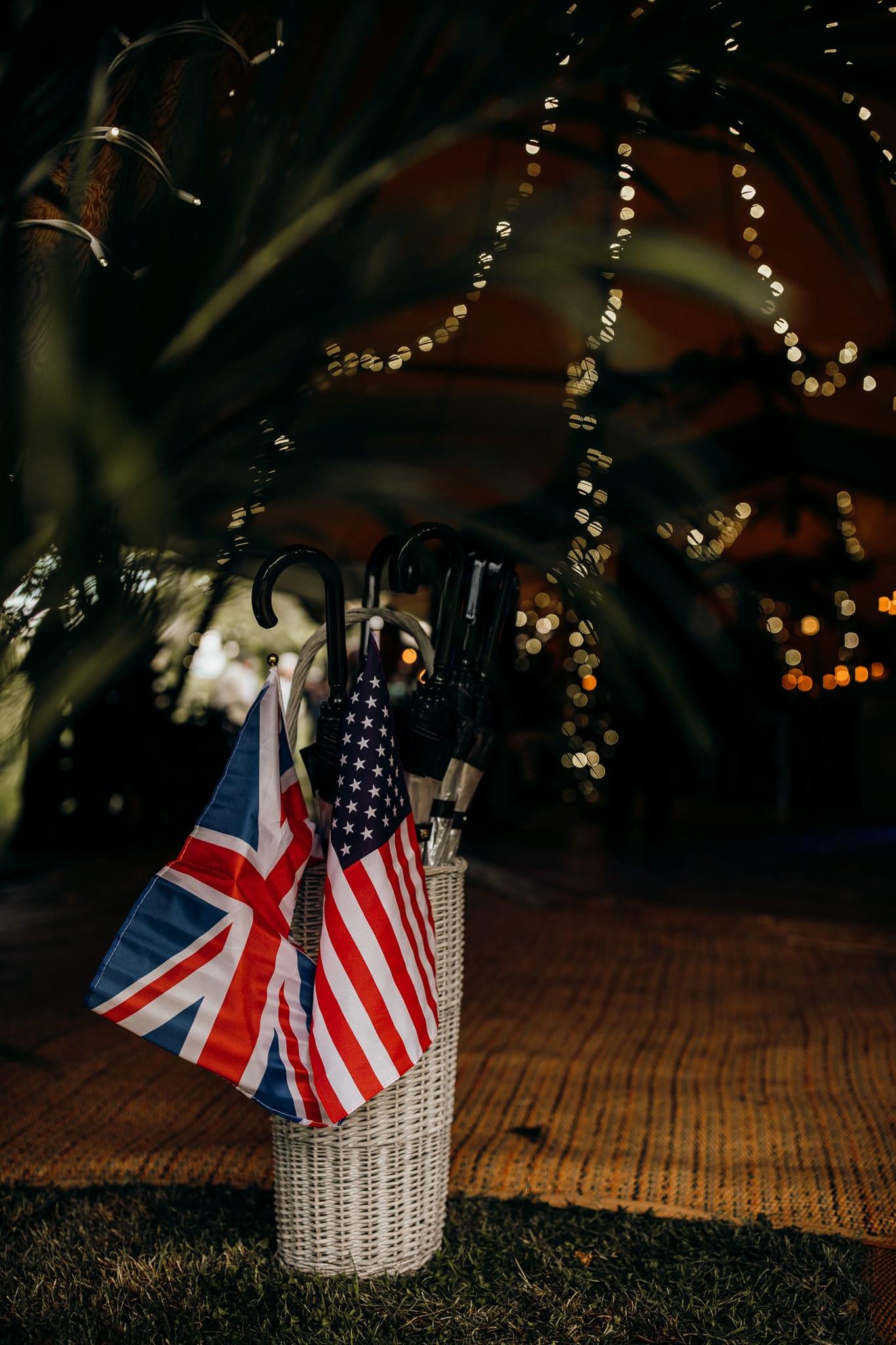British American wedding photography