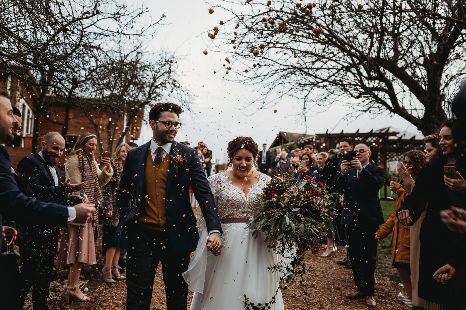 Northamptonshire winter outdoor wedding