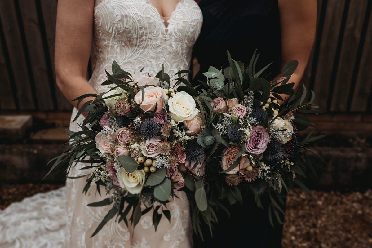 bridal and bridesmaid's bouquet