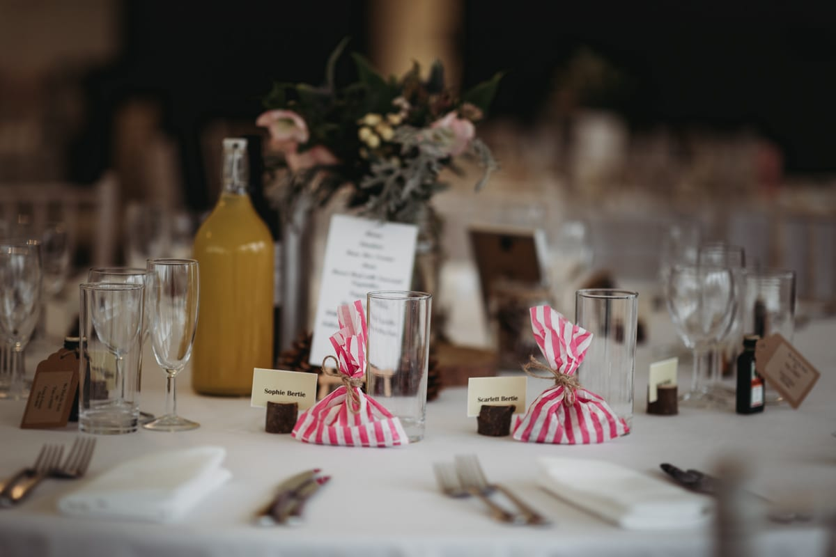 Wedding table decoration details