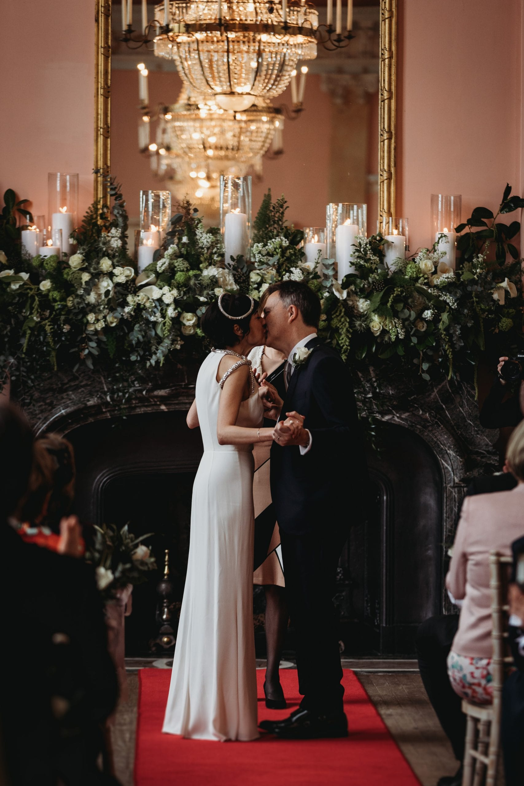 first kiss at a Danesfield House wedding