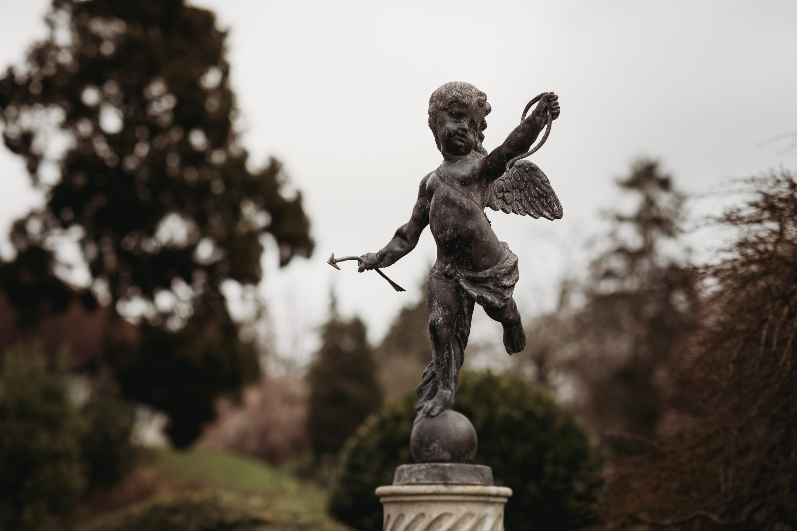 statue at Danesfield House gardens