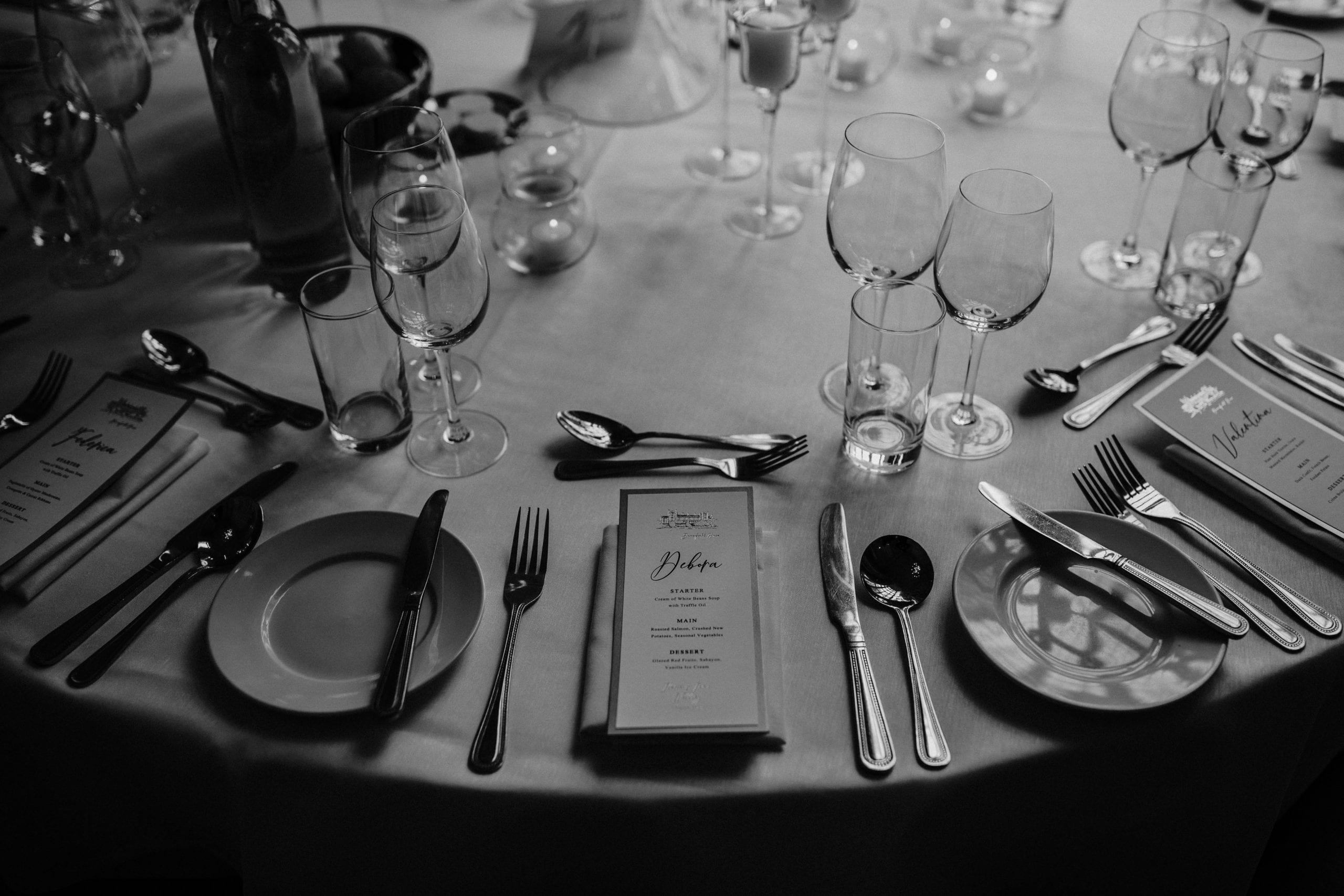 table details at a Danesfield House wedding