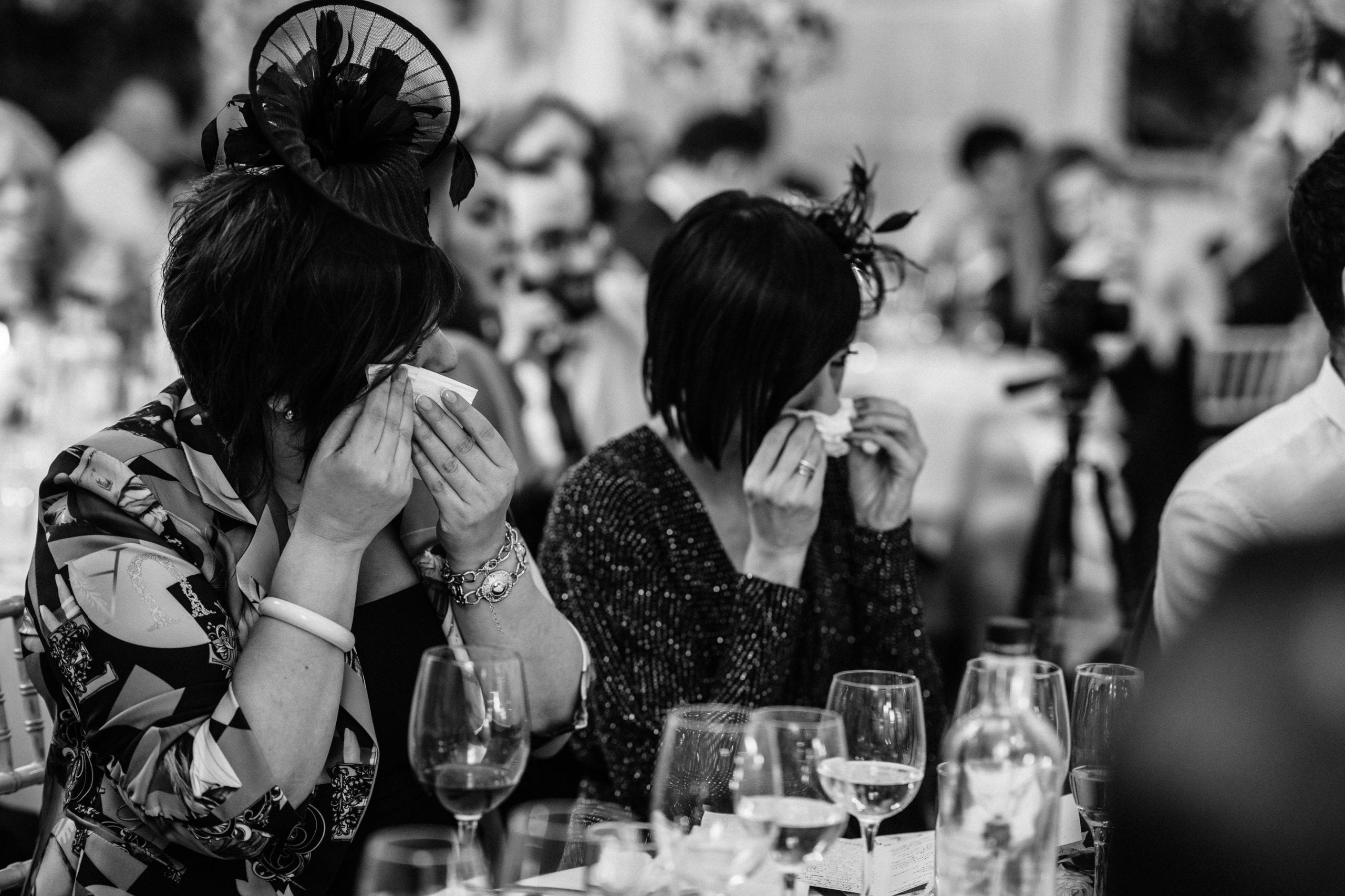 guests looking emotional at at Danesfield House wedding