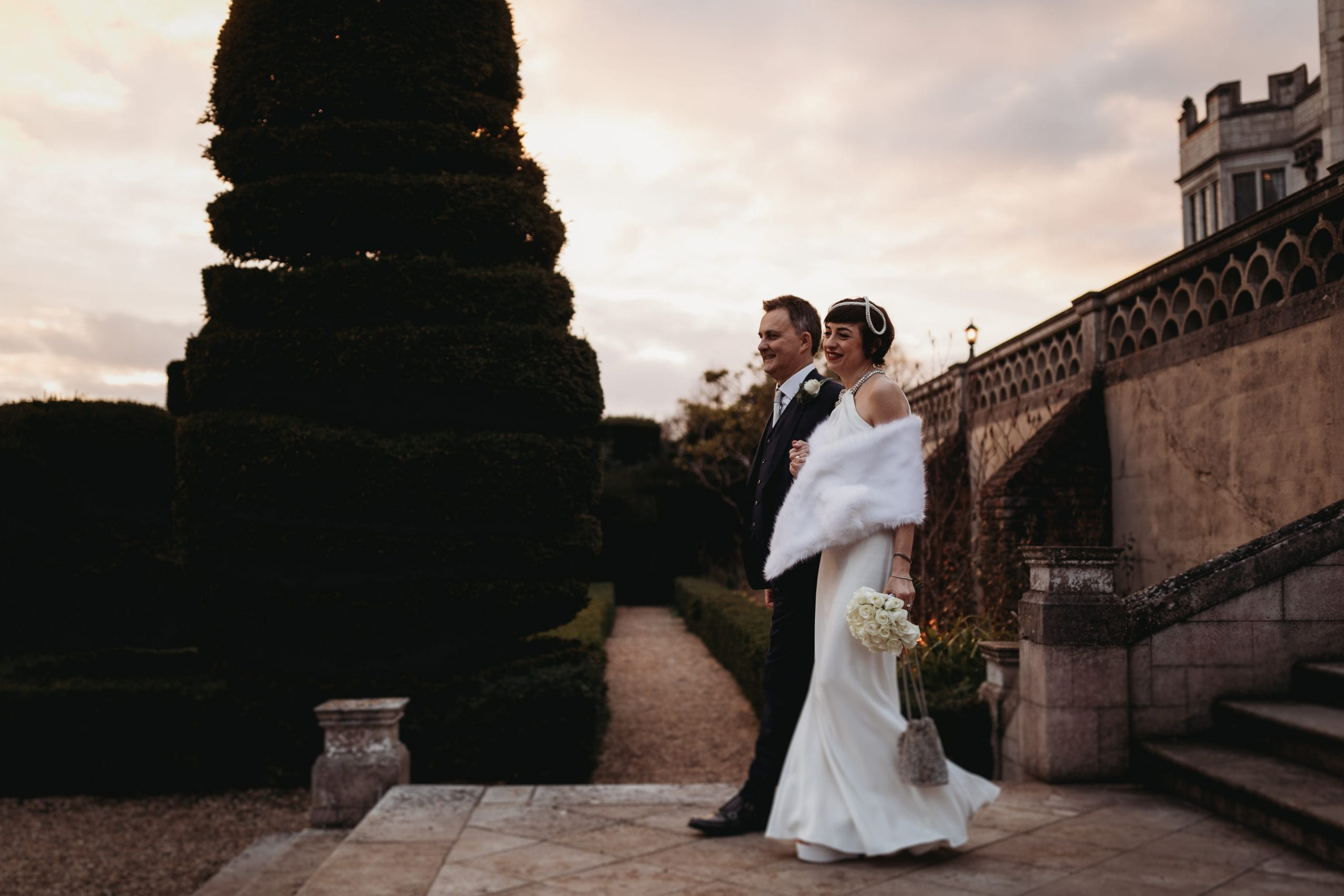 portrait of bride and groom at a Danesfield House wedding