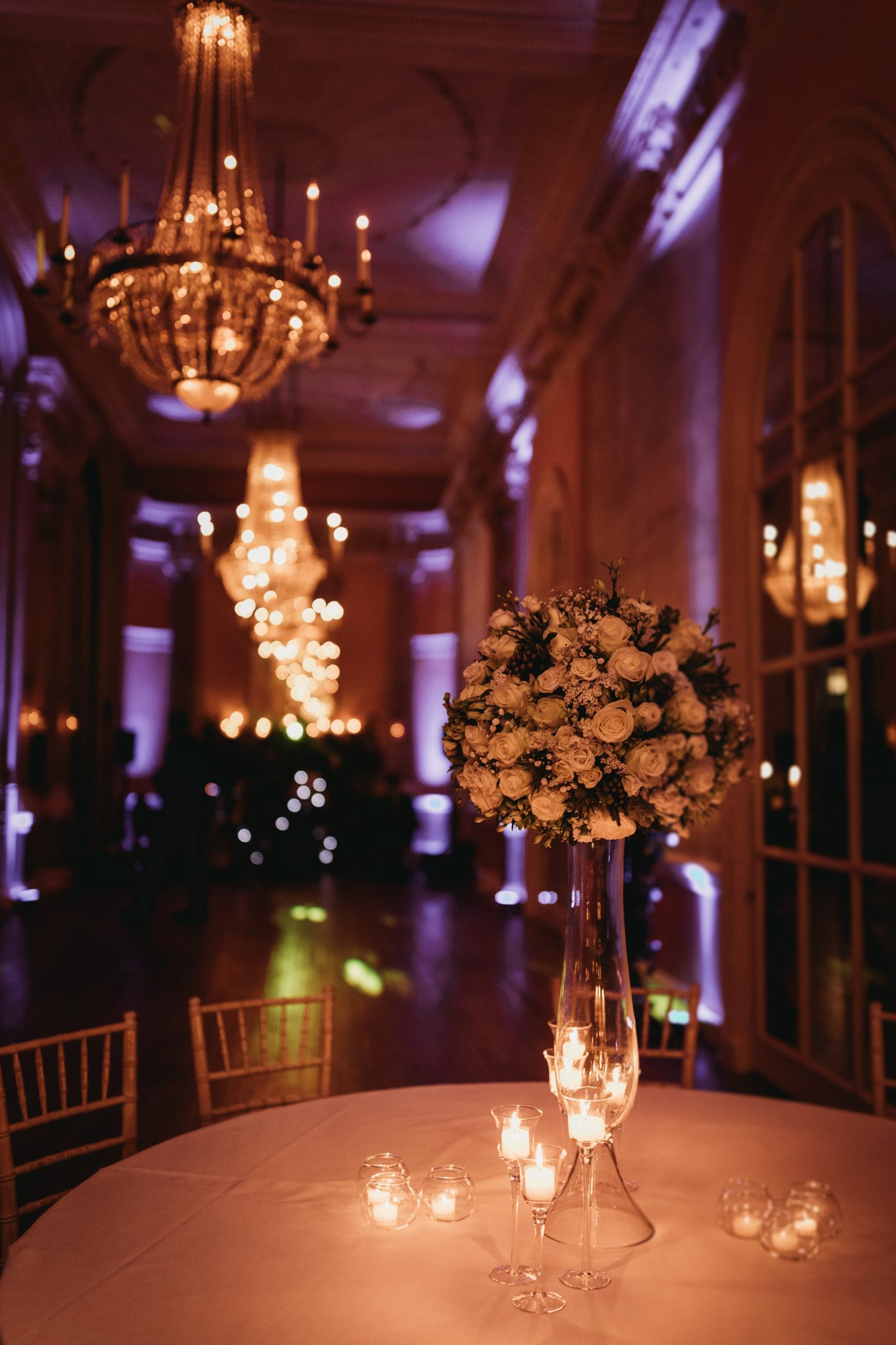 evening room details at a Danesfield House wedding