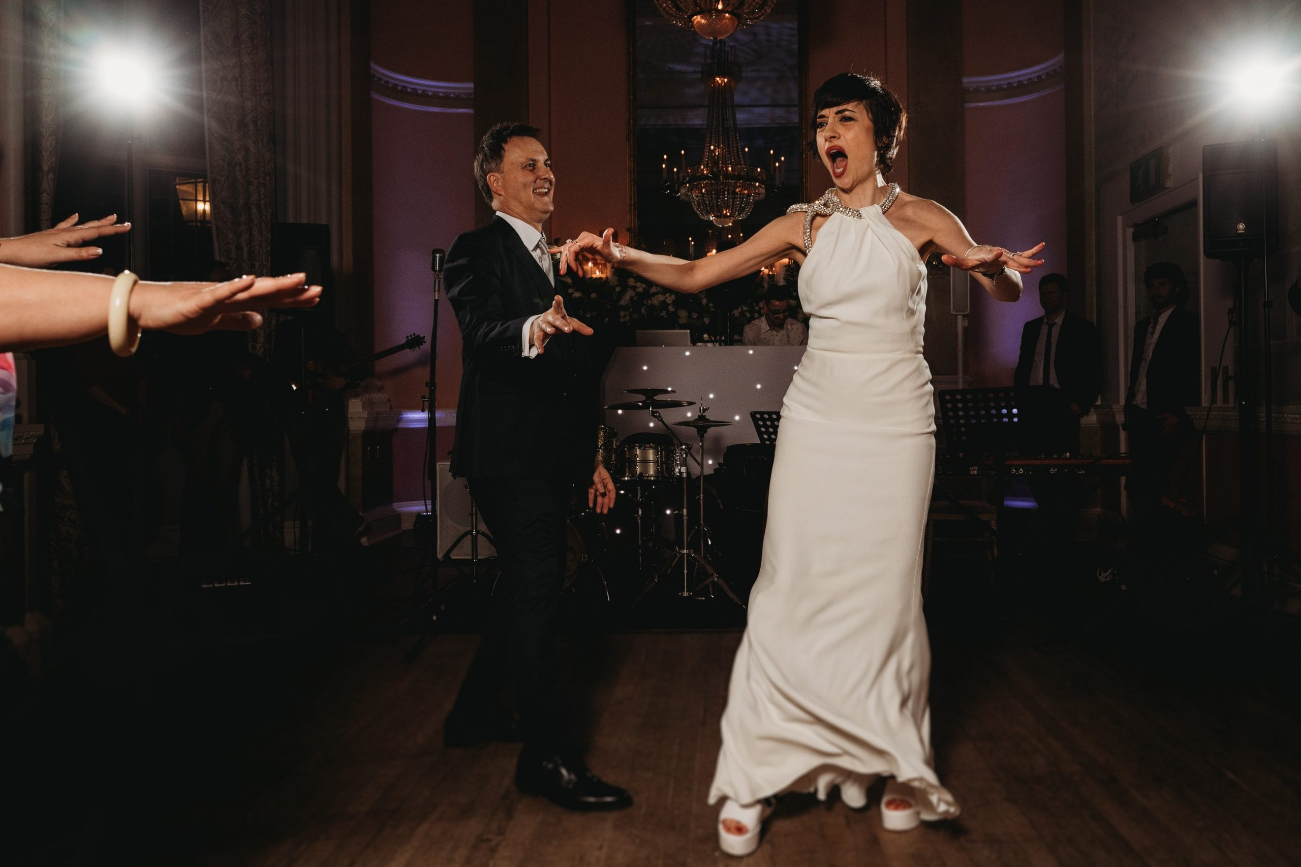guests dancing at a Danesfield House wedding